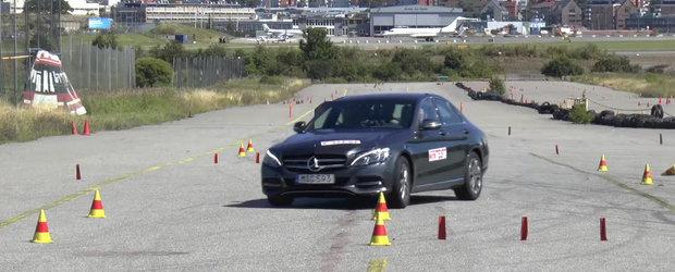 Noul Mercedes-Benz C Class nu prea se descurca la testul elanului