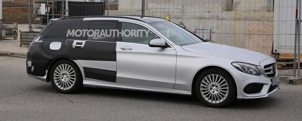 Noul Mercedes C-Class Wagon ni se dezvaluie in primele fotografii spion