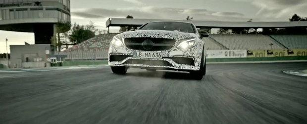 Noul Mercedes C63 Coupe rage ca un leu in ultima sa aparitie filmata