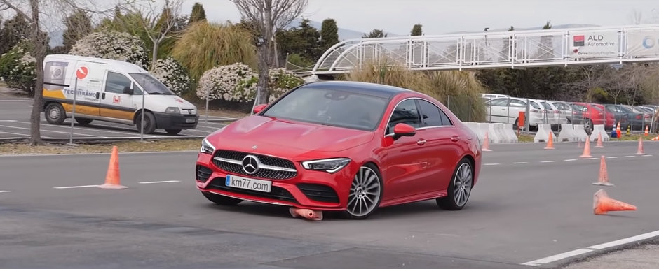 Noul Mercedes CLA s-a facut de ras la testul elanului. VIDEO ca sa te convingi si singur