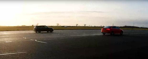 Noul Mercedes CLA35 AMG nu a putut tine pasul si s-a facut de ras. A luat bataie chiar si de la un Mini
