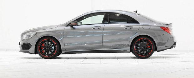 Noul Mercedes CLA45 AMG trece pe la Brabus, se alege cu 400 CP si 500 Nm