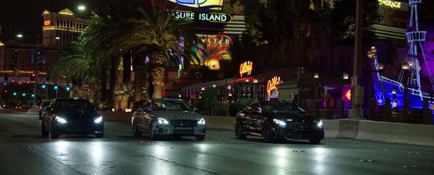 Noul Mercedes E-Class colinda strazile din Vegas alaturi de C si S-Class Coupe