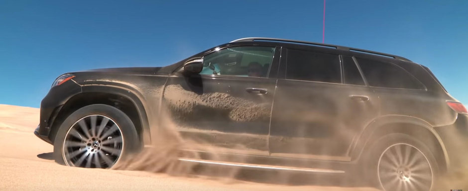 "Noul Mercedes GLS ""topaie"" pentru a iesi din situatiile dificile. VIDEO ca sa te convingi si singur"