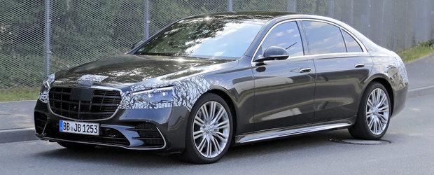 Noul Mercedes S-Class, in cele mai clare imagini de pana acum. Cum arata viitorul rege al limuzinelor de lux