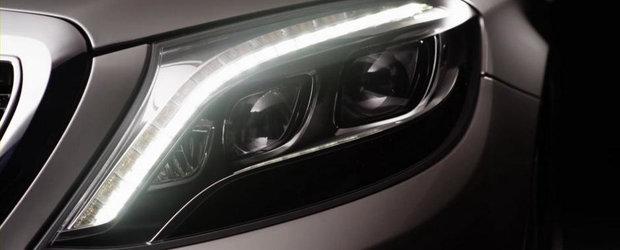Noul Mercedes S-Class W222 isi face aparitia in primul teaser oficial