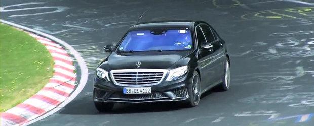 Noul Mercedes S65 AMG, surprins in actiune la Nurburgring