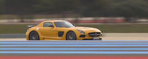 Noul Mercedes SLS AMG Black Series ia cu asalt circuitul Paul Ricard. VIDEO AICI!