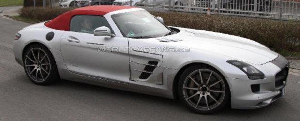 Noul Mercedes SLS AMG Roadster, surprins aproape necamuflat!