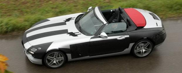 Noul Mercedes SLS AMG Roadster, surprins decapotat pentru prima oara!