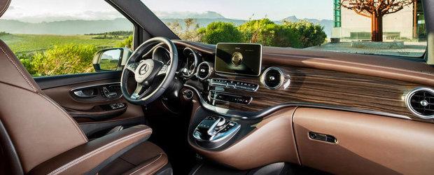 Noul Mercedes V-Class: Cum arata cel mai luxos MPV al momentului