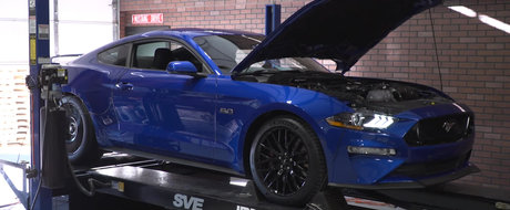 Noul MUSTANG cu motor V8 a ajuns in premiera pe dyno. Cati cai are de fapt muscle car-ul american
