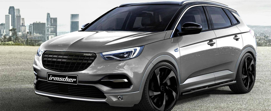 Noul Opel Grandland X a primit primul sau pachet de tuning. Nemtii de la Irmscher au fost foarte darnici