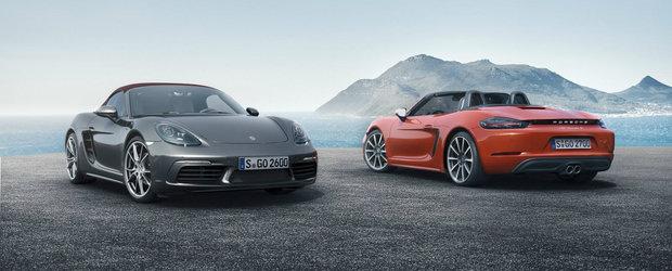 Noul Porsche 718 Boxster debuteaza oficial cu doua unitati turbo sub capota