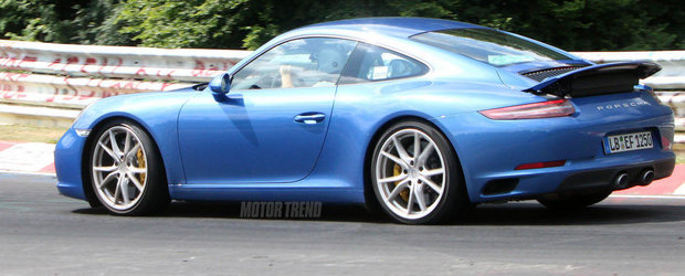 Noul Porsche 911 Facelift ni se arata in cele mai clare imagini de pana acum
