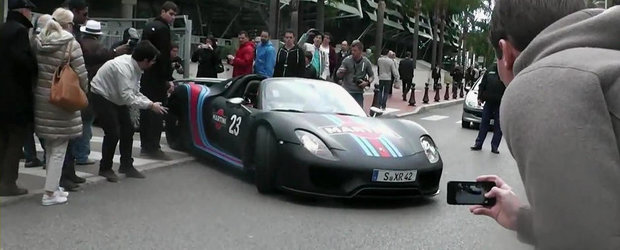 Noul Porsche 918 Spyder face senzatie pe strazile din Monaco. VIDEO AICI!