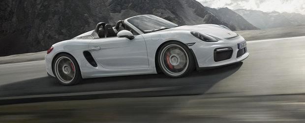 Noul Porsche Boxster Spyder marcheaza revenirea placerii condusului