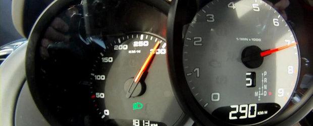 Noul Porsche Cayman S accelereaza pana la 290 kilometri pe ora. VIDEO AICI!