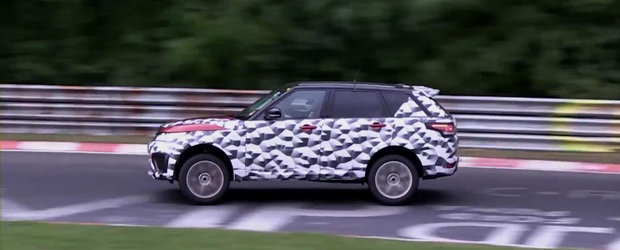 Noul Range Rover Sport RS se antreneaza din greu la Nurburgring