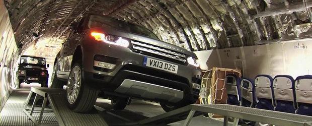 Noul Range Rover Sport, sesiune de off-road in interiorul unui Boeing 747