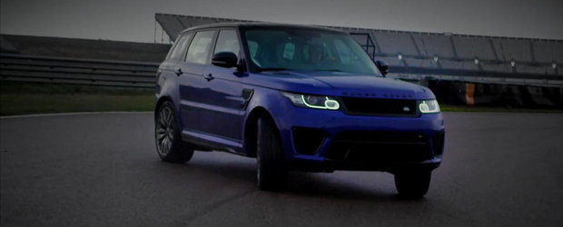 Noul Range Rover Sport SVR iubeste la nebunie... driftul