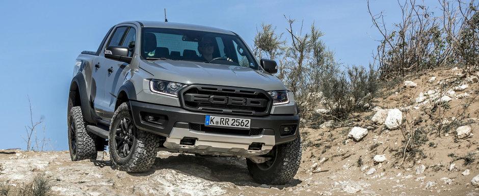 Noul Ranger Raptor: camioneta de la FORD este imbatabila in off-road si poate tracta 2.5 tone
