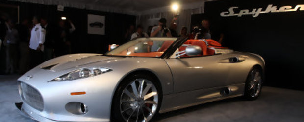 Noul Spyker C8 Aileron Spyder iese la agatat