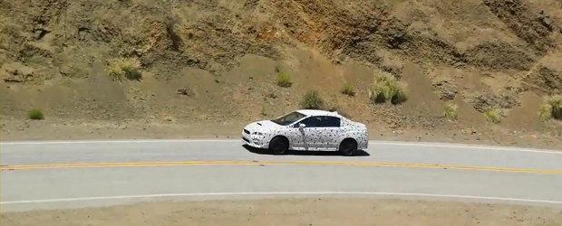 Noul Subaru Impreza WRX, surprins in teste pe celebrul Mulholland Drive