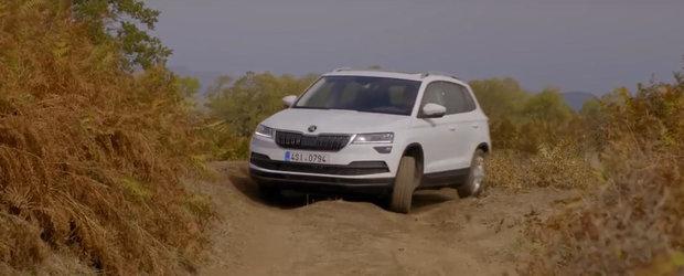 Noul SUV compact al cehilor de la Skoda testat pe teren accidentat. Cum s-a descurcat micul Karoq