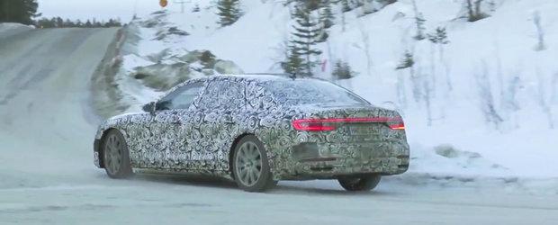 Noul varf de gama al nemtilor de la Audi nu este deloc rusinos in fata camerei