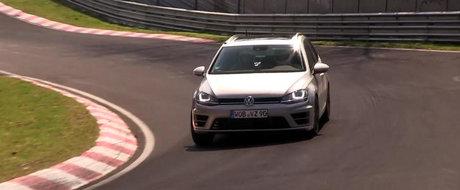Noul Volkswagen Golf R Break isi incordeaza muschii la Nurburgring