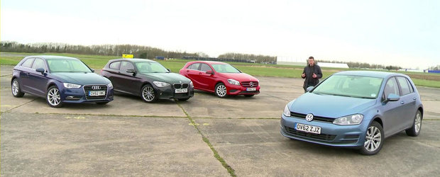 Noul VW Golf 7, fata in fata cu Audi A3, BMW Seria 1 si Mercedes A-Class
