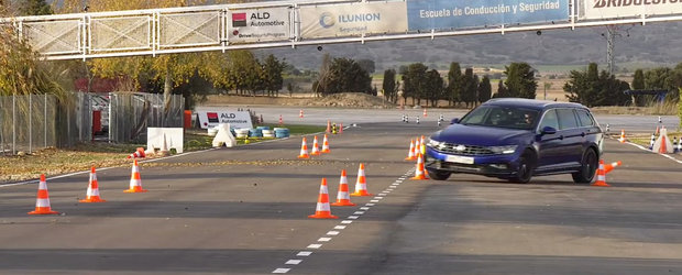 Noul VW Passat Facelift s-a facut de ras la testul elanului. VIDEO ca sa te convingi si singur