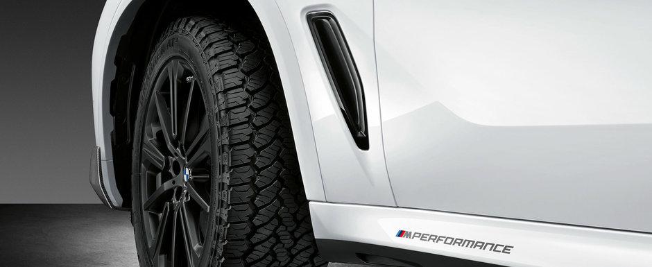 Noul X5 vine acum tunat din fabrica. BMW lanseaza mult-asteptatele accesorii M PERFORMANCE