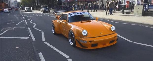 Nu ai cum sa-l ratezi. Primul Porsche 911 RWB din Londra surprins pe strazi