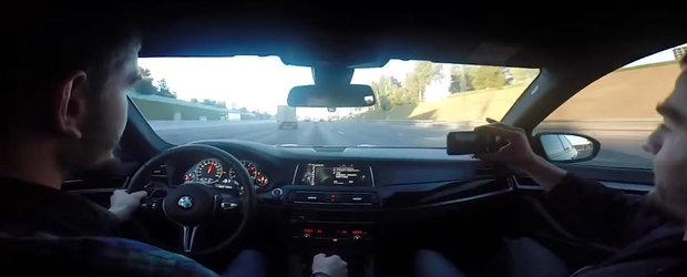Nu ai vazut inca Fast8? Uite aici varianta reala cu un BMW in traficul din Rusia