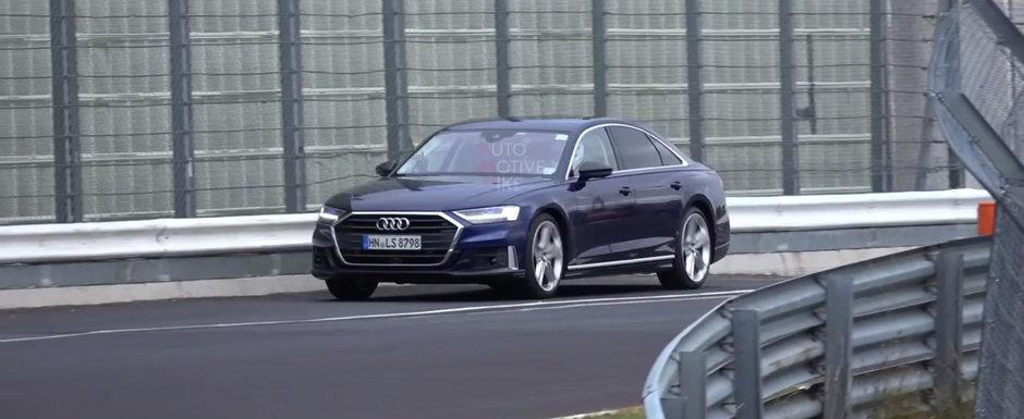 Nu clipi sau l-ai ratat. Noul Audi S8 alearga complet necamuflat la Nurburgring