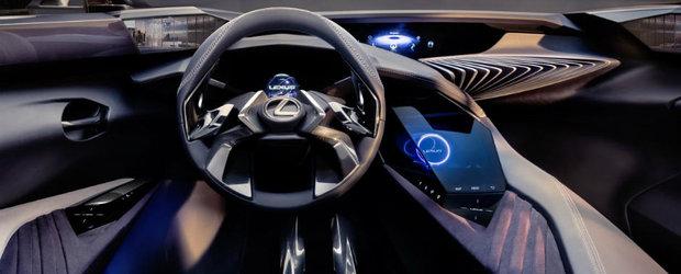 Nu e o nava spatiala, este doar interiorul conceptului Lexus UX. Japonezii pregatesc un SUV de mici dimensiuni