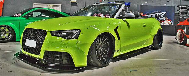 Nu e pentru cei timizi. Acest Audi S5 atrage priviri pe banda rulanta, ca un magnet