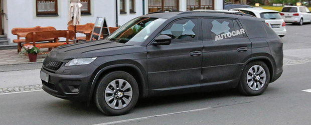 Nu este noul Q7, ci viitorul SUV de la Skoda. Avem imagini proaspete cu modelul Kodiaq