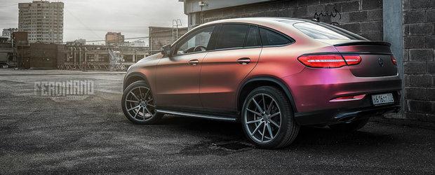 Nu exista nimic mai urat ca un BMW auriu. Exceptand acest Mercedes GLE cu vopsea cameleon