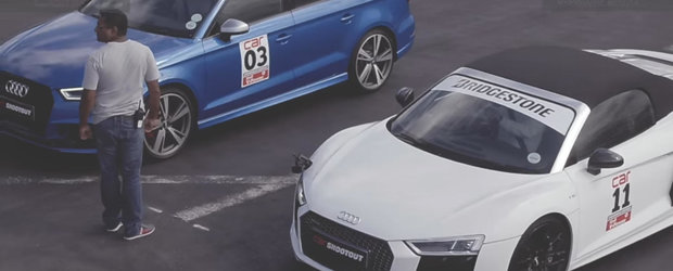 Nu i-a pasat ca rivalul sau e un supercar si face suta in 3,3 secunde. Cum s-a terminat cursa pentru Audi-ul RS3