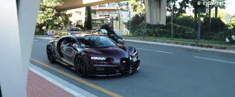 Nu-i de mirare ca fura toate privirile. Primul Bugatti Chiron surprins pe strazile din Monaco