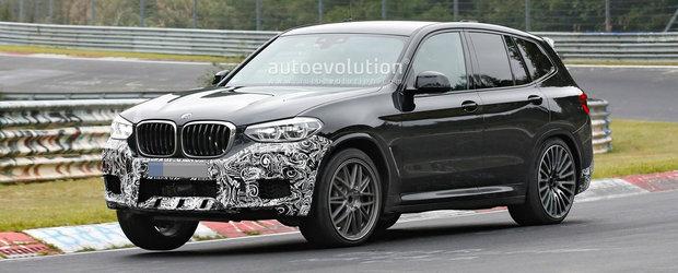 Nu l-au mai putut tine ascuns. Noul BMW X3 M a fost surprins aproape necamuflat pe Nurburgring