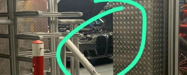 Nu s-a lasat si a mai fotografiat o data noul BMW M3 in fabrica. De data asta din fata