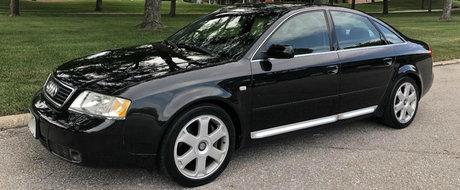 Nu se mai fac masini ca pe vremuri: acest A6 din 2000 are motor V6 biturbo, cutie manuala si tractiune integrala