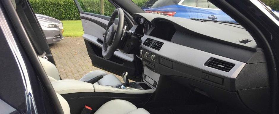 Nu se mai fac masini ca pe vremuri: acest BMW Seria 5 din 2007 are cinci usi si un motor V10