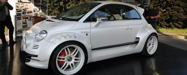 Nu-ti trebuie o masinuta mai nebuna decat acest Fiat 500 cu motor de Alfa Romeo si 350 de cai