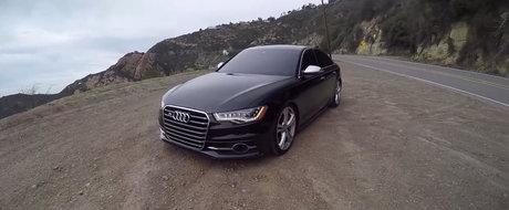 NU vei apuca sa vezi prea des fata acestui Audi S6. Masina germana are 520 CP la roti si fuge de mananca pamantul