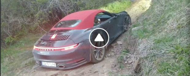 Nu vezi in fiecare zi un PORSCHE 911, de ultima generatie, tarat prin hartoape. VIDEO